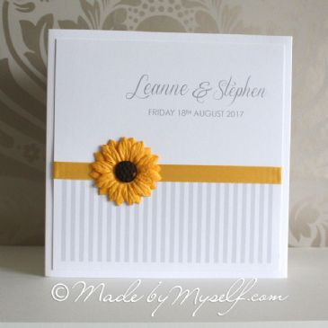 Sunflower Pocketfold Wedding Invitation